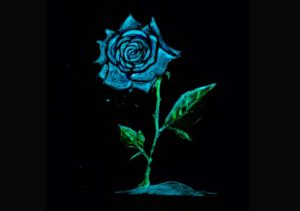 A glowing flower made from Best Glow in the Dark Acrylic Paints